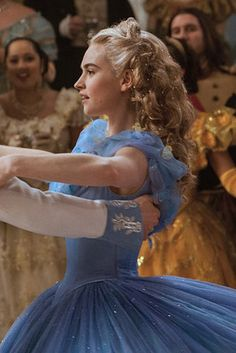 Cinderella while dancing with the Prince