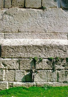 Heliopolis or Baalbek - Roman architecture - Lebanon - shows human scale compared to size of masonry blocks - Temple of the Sun god Baal