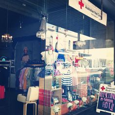 Red Cross Charity Shop, Collingwood. Love the window display.