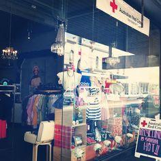 Red Cross Charity Shop, Collingwood. Love the window display.