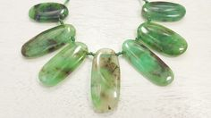 Genuine And Natural Australian Chrysoprase Top drilled Freeform Shaped Beads 101.5 Grams by BeadSeen on Etsy