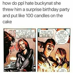 Bucky deserved to end up with Nat. Marvel Dc Comics, Marvel Heroes, Marvel Avengers, Marvel Funny, Dc Movies, Marvel Movies, Bucky And Natasha, I Understood That Reference, Bucky Barnes