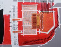 Helmut Heinze 2011 - in Rotorange 2011 I 1,51m x 1,90 m I Acryl auf Leinwand www.heinzeart.de