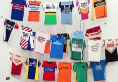 ......A selection of Paul Smith's vintage cycling jerseys!
