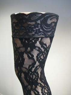 c0d1d3662af Leg Avenue 9762 Thigh Highs Stockings All Lace Gothic Rose OneSize Regular  Black