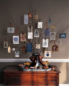 card/picture tree for Christmas cards