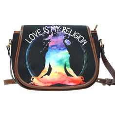 Love Is My Religion Saddle Bag