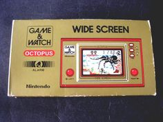 80s #vintage Nintendo Game & Watch Octopus Handheld Gold Wide Screen Lsi Siver    from $198.0