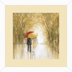 Arc of Rain 14 inch x 10 inch Wall Art, White