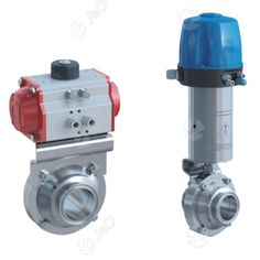 Pneumatic Hygienic Butterfly Ball Valve with Actuator