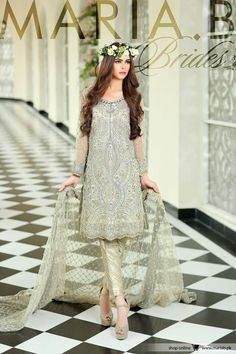 27 Trendy Ideas Indian Bridal Couture Maria B Indian Bridal Couture, Pakistani Couture, Pakistani Wedding Dresses, Pakistani Dress Design, Pakistani Outfits, Indian Outfits, Dress Wedding, Maria B, Saris