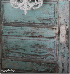 Blue chippy door ~ raggygirlvintage