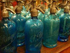 French Antique Seltzer Bottles