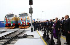 قطار يقل شحنة حبوب قادمة من كازاخستان