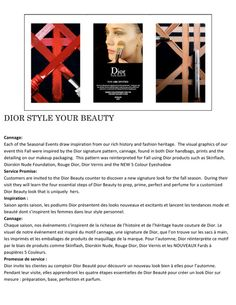 DIOR STYLE YOUR BEAUTY Event at the Bay