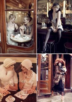 "Photos from ""The September Issue"" from Grace Coddington's 1920's inspired ""Paris, Je T'aime"" photoshoot"