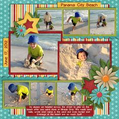 Hottest Images beach Scrapbooking Pages Style Scrapbooking pages demand creativeness plus creativity. Occasionally, while, a person think that you Beach Scrapbook Layouts, Vacation Scrapbook, Kids Scrapbook, Scrapbook Sketches, Scrapbooking Layouts, Scrapbook Cards, Picture Layouts, Multi Photo, Multi Picture