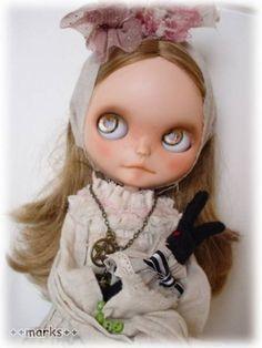 This Bohemian Custom Blythe doll is so sweet!   #rinkya #japan #fromjapan #blythe #blythedoll