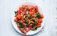 Watermelon and prosciutto may seem like an unlikely pair, but the salty-sweet mix will make this your new go-to fruit salad.
