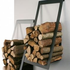 Hanging stylish firewood holder