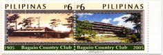 Philippines.  BAGUIO COUNTRY CLUB CENTENNARY.  Scott 2952a (BCC in 1905); 2952b (BCC in 2005), A935, Issued 2005 Feb 18, 6/6. /ldb.