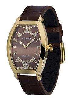 Moog Paris-Urban Lady Damen-Armbanduhr Zifferblatt Schokolade Armband braun Leder Rindleder, hergestellt in Frankreich-m45052-002 - http://uhr.haus/moog-paris/moog-paris-urban-lady-damen-armbanduhr-armband-in