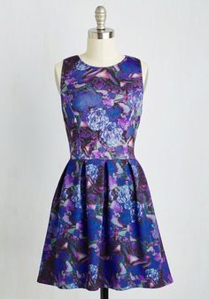 May I Have This Dance Party? Dress. With moves like yours and a frock as fab as this neoprene fit and flare - arriving at ModCloth in October - prospective dance partners wont be in short supply! #multi #modcloth