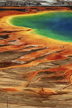 Ive visited this and it is amazing!  Grand Prismatic Spring in Yellowstone, Wy