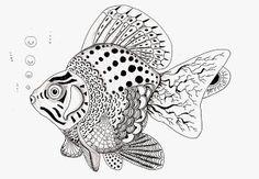 Efie goes Zentangle: vis van Ben Kwok