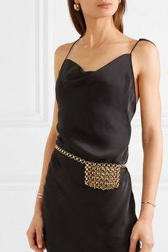 Shop on-sale Gold-tone belt bag. Browse other discount designer Belt Bags & more luxury fashion pieces at THE OUTNET Jennifer Fisher, Womens Fashion Online, Latest Fashion For Women, Designer Belt Bag, Waist Purse, Trendy Swimwear, Denim Shop, Beaded Bags, Cloth Bags