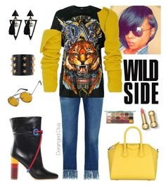 """""""Wild Side"""" by derangeddiva on Polyvore featuring 3x1, Balmain, Calvin Klein 205W39NYC, Malone Souliers, Givenchy, Tommy Hilfiger and Spitfire"""