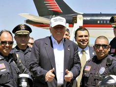 Trump with ICE Officers.  He is trying to make America SAFE again too!!
