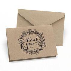 Krafty Wedding Thank You Cards