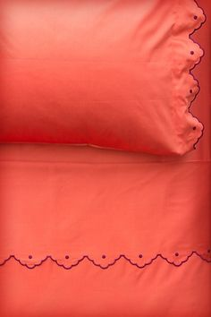 Scalloped Sheet Set #anthropologie- see if embroidery can be done here