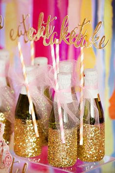 Marie Antoinette Inspired Birthday Party {Pink, Gold & Glitzy