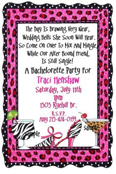 Bachelorette color run ticket invitation by hydraulicgraphix bachelorette party invitation wording stopboris