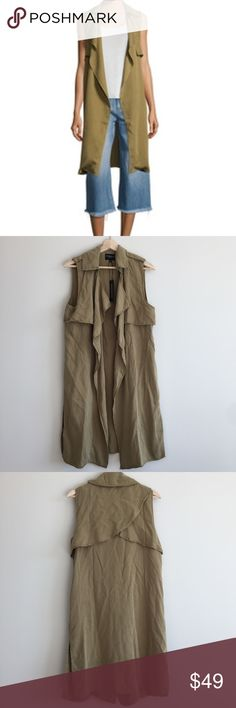 Walter Baker Sleeveless Terry Trench 🌷Please Read the description! Thanks!🌷  Brand new with tag Size: M Retail: $198  Color: army green Color may be slightly  different bcz of lighting  🌷Price is FIRM unless bundled 🌷NO Trades         🌷NO Holds 🌷All sales are final Welcome product-related questions! You are responsible for your size. Walter Baker Jackets & Coats Vests