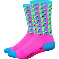 DeFeet AirEator 5in HiTop Italia Cycling//Running Socks