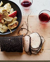 Earl Grey-Crusted Pork Loin with Fennel and Apples Recipe on Food & Wine