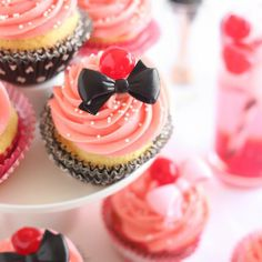 Shirley Temple Cupcakes.#food.