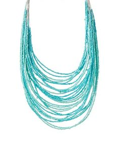 Another great find on #zulily! Teal Seed Bead Multistrand Necklace #zulilyfinds