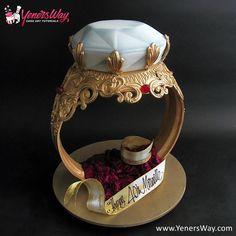 3D Diamond Ring Cake