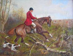 Fox Hunt Scene Original Oil Painting by Francis by GrayHorseFarm Fox Hunting, Virtual Museum, Pin Art, Beautiful Artwork, Best Gifts, Original Art, Art Gallery, Artsy, Scene