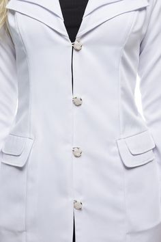 Lab Coats For Men, Scrubs Outfit, Medical Uniforms, Moda Chic, Medical Scrubs, Professional Look, Work Wear, Chef Jackets, Ideias Fashion