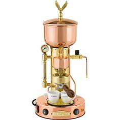 Elektra ART.SX MicroCasa SemiAutomatica Espresso Machine -Copper and Brass