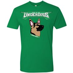 Underdog Eagles German Shepherd Mask Philadelphia Eagles Inspired Kelly Green  T-Shirt 914bf92c8648