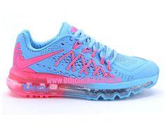 separation shoes ee443 e5bac Nike Wmns Air Max 2015 GS Chaussures Pas Cher Pour Femme Bleu Rose  698903-ID2