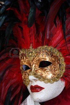 masque de venise: masque de Venise traditionnel avec décoration colorée Banque d