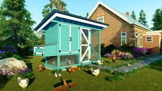 Raise your own Cluck Norris and Yolko-Ono 15 DIY Chicken coop plans Have your own farm fresh eggs Every. by Easy Coops™ Walk In Chicken Coop, Backyard Chicken Coop Plans, Chicken Runs, Chickens Backyard, Inside Chicken Coop, Backyard Coop, Backyard Ducks, Chicken Life, Chicken Houses
