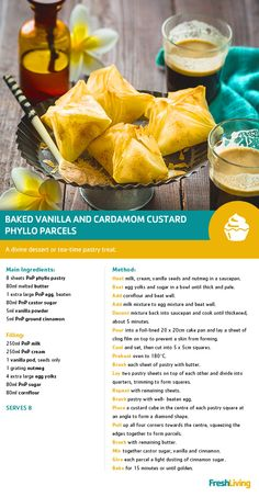 Make today schweet with baked vanilla and cardamom-filled phyllo parcels. With Sweet Saturdays, the weekend will always be memorable! Group Recipes, Group Meals, Easy Recipes, Easy Meals, Healthy Recipes, Healthy Dishes, Eating Healthy, Healthy Food, Cute Food